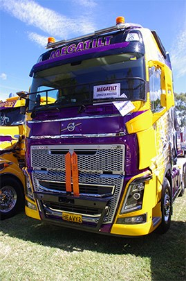 Megatilt Heavy Haulage's Volvo won the Best Modern Art and Signwriting trophy.