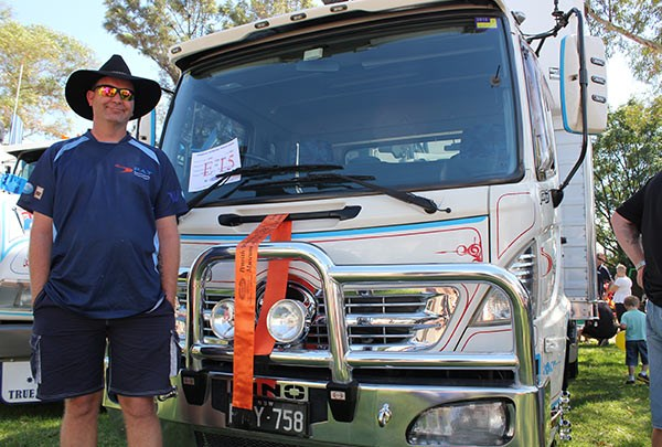 Jason Mew, who drives for Pay Specialised Transport, hopes to bring an Isuzu 525 to Penrith next year.