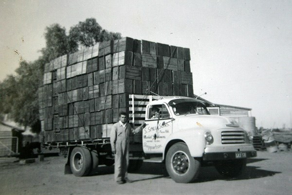 Sam Sali with the Bedford that launched S Sali & Sons 60 years ago.