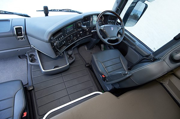 A corporate box at the G. The modular aspect of Scania's range sees similar ergonomics regardless of model.
