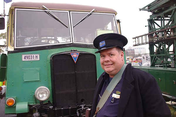 David Critchley from Sydney's Tramway Museum.