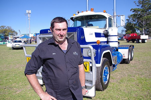 Brian Riley and his pride-and-joy 1980 MK1 Mack Super-Liner.