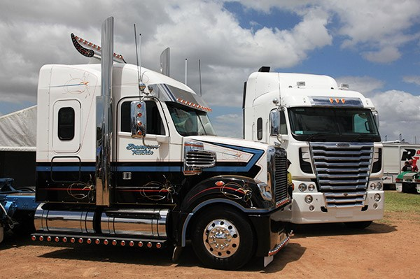 Bransgrove Truckin's Coronado, left, was runner-up in the Best Prime Mover 1 to 3 years category.
