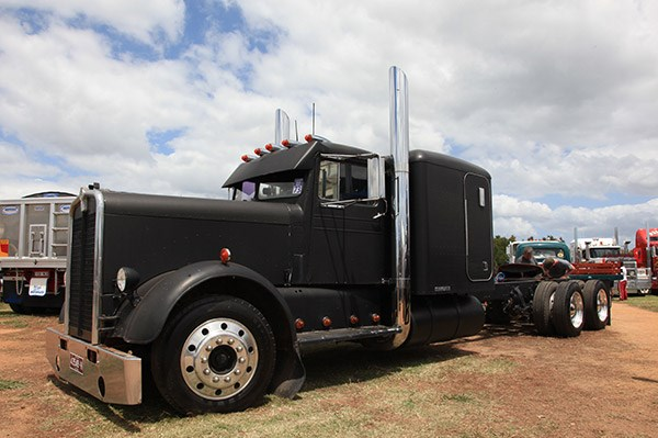 Mick Stoneham's 1955 Kenworth Rat Rod stood out from the crowd.