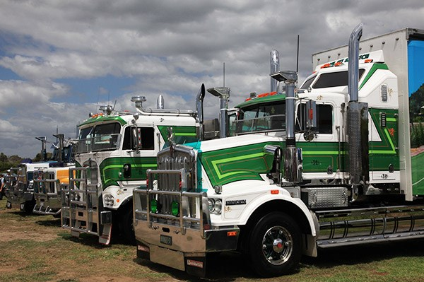 Budget Tennis Courts' Kenworth T650 took out the Best Rigid 9 years and over award.