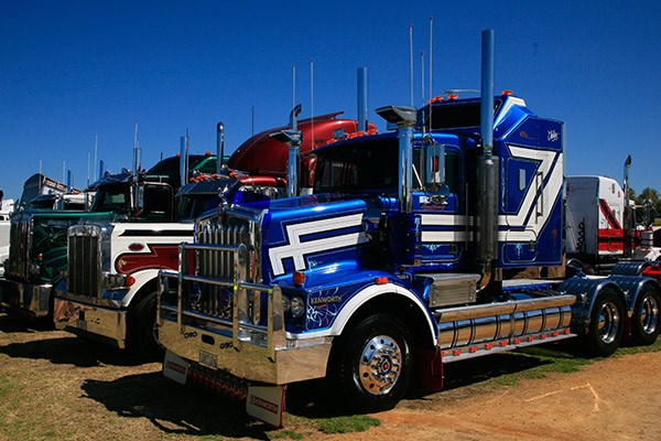 R & R Trucking's Rig of the Show-winning T650.