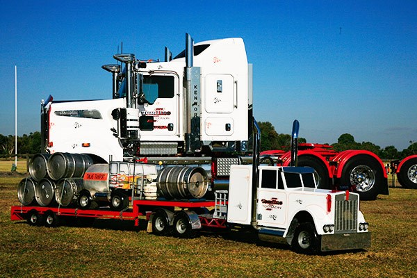 "Tomlins Transport's ""mini-me"" Kenworth won the Best Esky award."