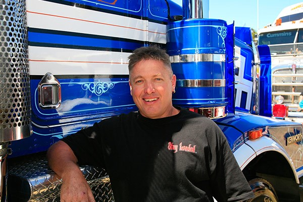 Rob Stowe was the winner of Rig of the Show with his Kenworth T650.