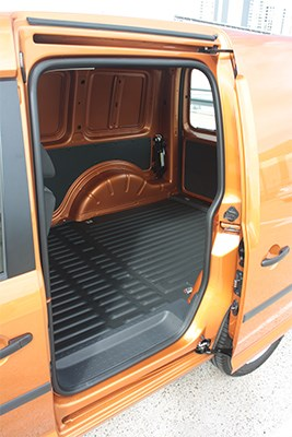 One sliding door is standard, a driver's side slider is an option.