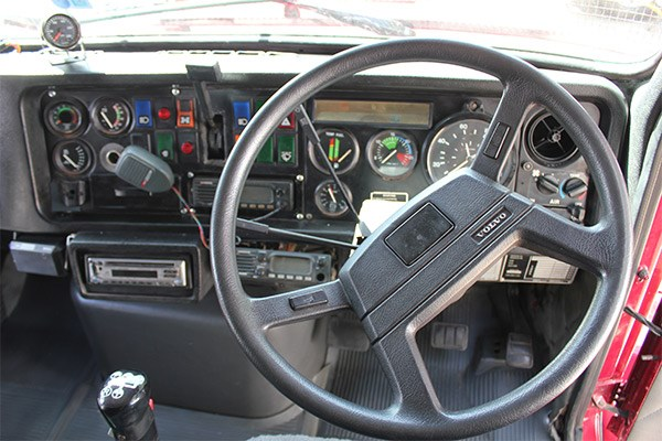 The Volvo steering wheel and dash were a lot different 23 years ago.