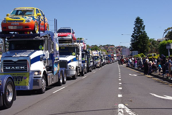 Truck traffic at Warrawong.