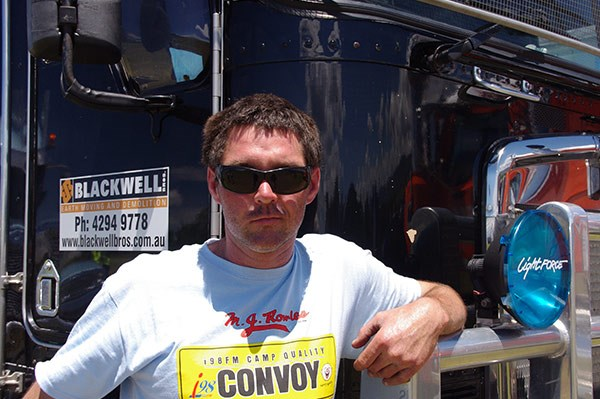 Nathan Blackwell is an avid supporter of the i98FM convoy.