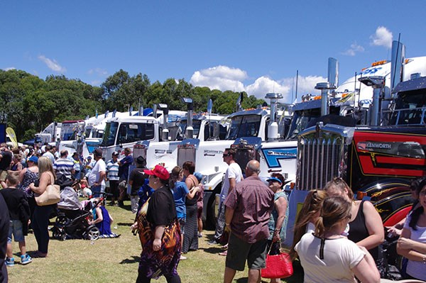 Hundreds of trucks, thousands of people.