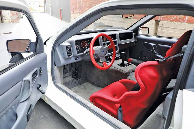 ford rs 200 interior