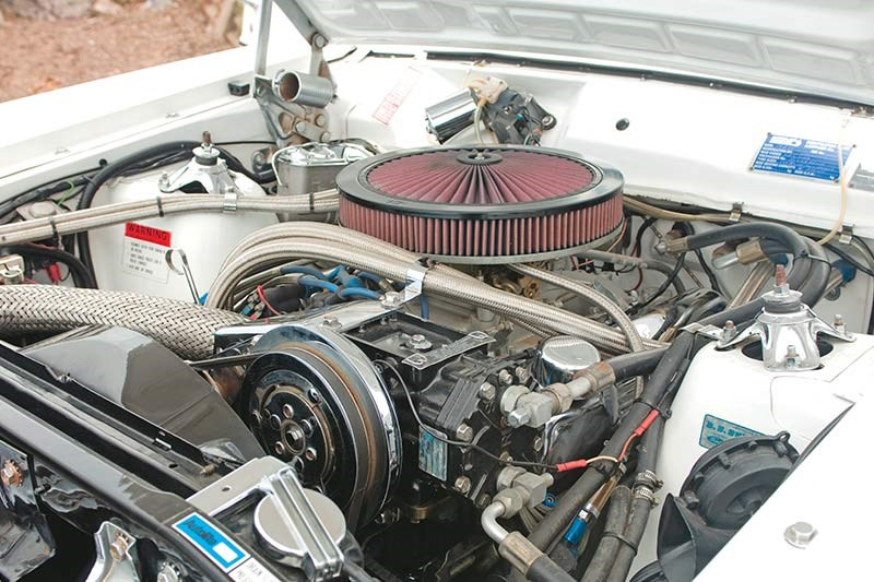 ford falcon six door wagon engine bay