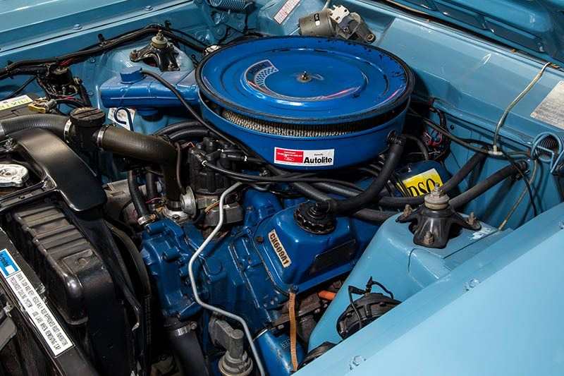 ford falcon xy engine bay