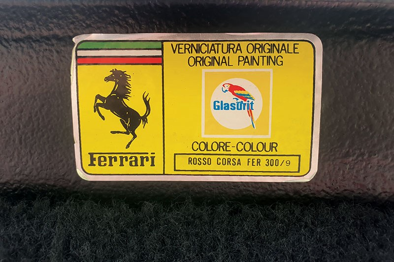 ferrari 328 gts sticker