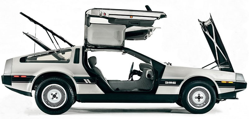 delorean dmc 12 side