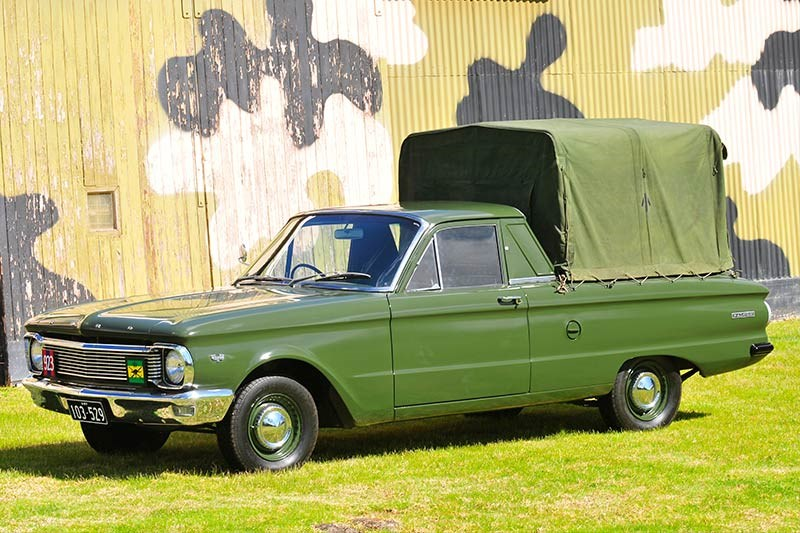 ford falcon xp army ute side