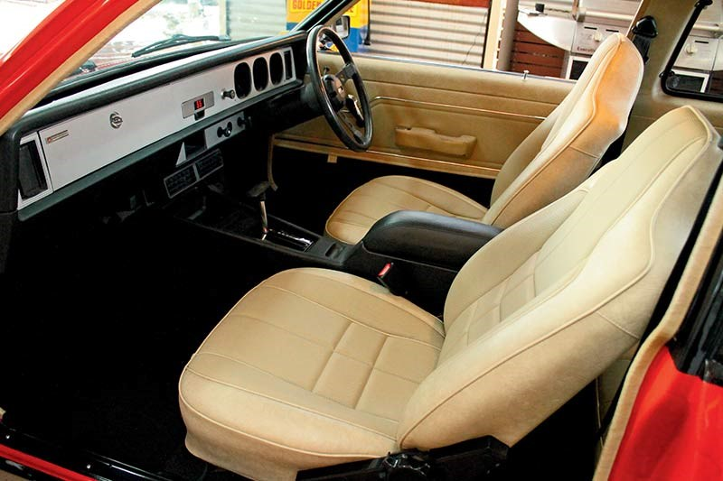 holden torana hatch interior after