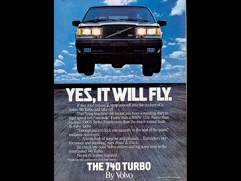 morley 378 ad volvo 740 turbo sedan road 1985
