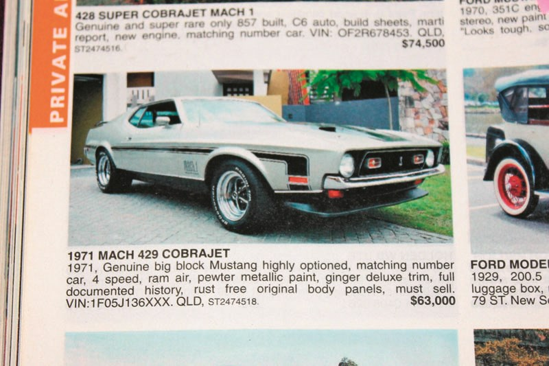 MUSTANG MACH 1 CJ AUG 08