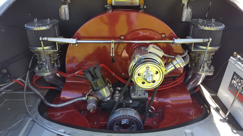 42 Tidy engine bay in a Karmann Ghia