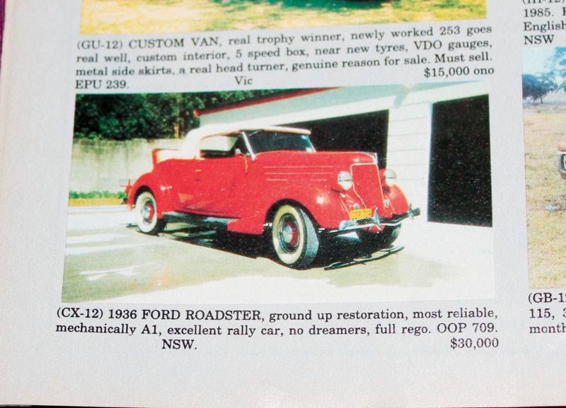 FORD ROADSTER DEC 94