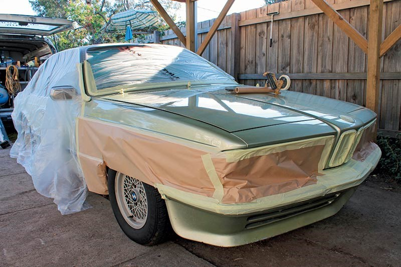 bmw 633 prepped for paint