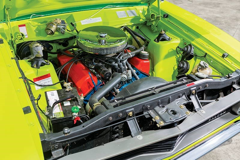 ford falcon coupe engine bay