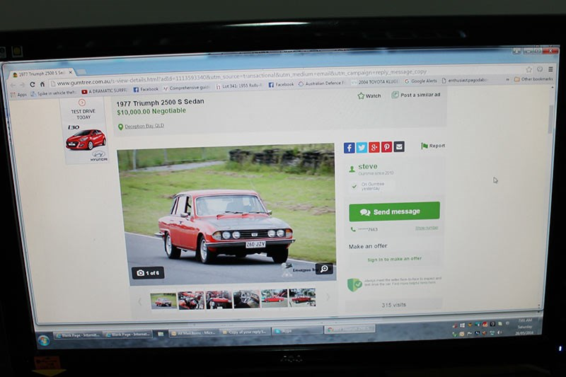 triumph 2500s for sale ad