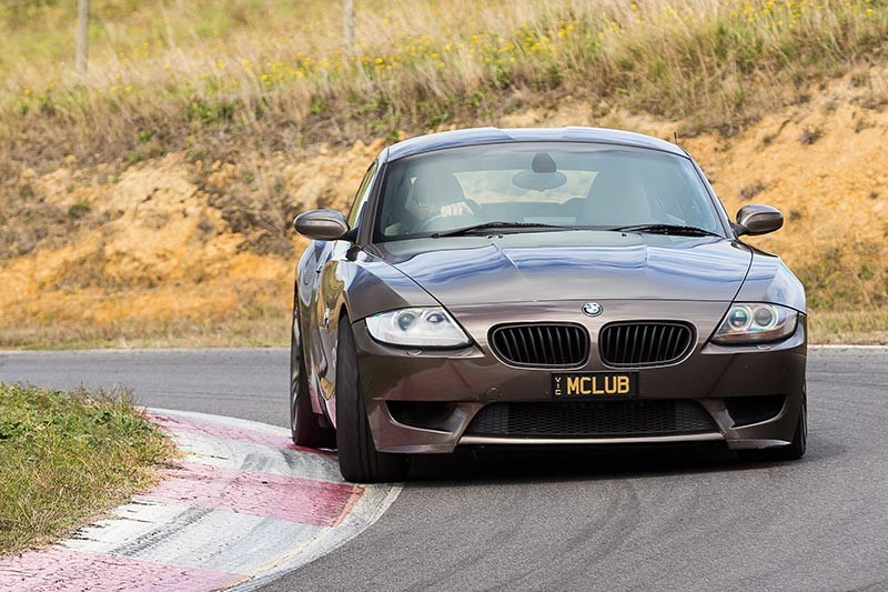 bmw z4m coupe ontrack front