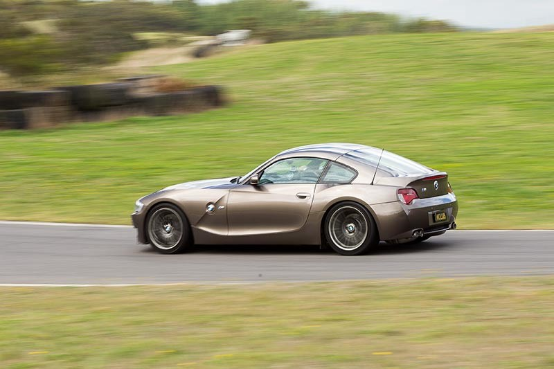 bmw z4m coupe ontrack side 2