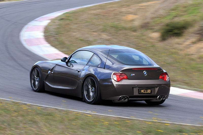 bmw z4m coupe rear ontrack
