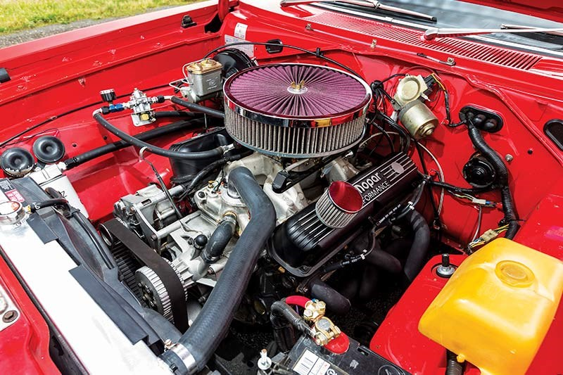 chrysler charger engine bay