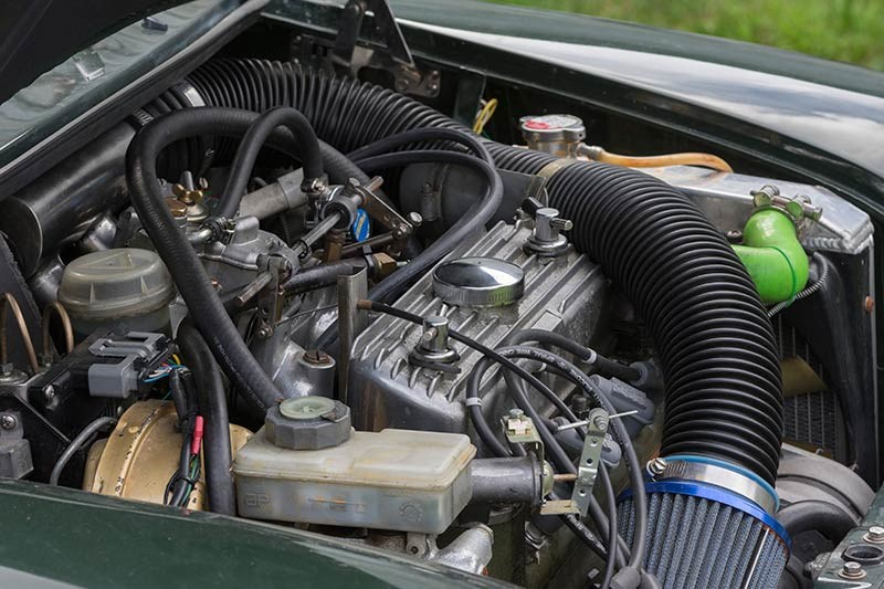 mini cooper engine bay