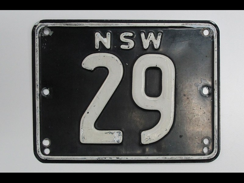 NSW heritage plate '29'