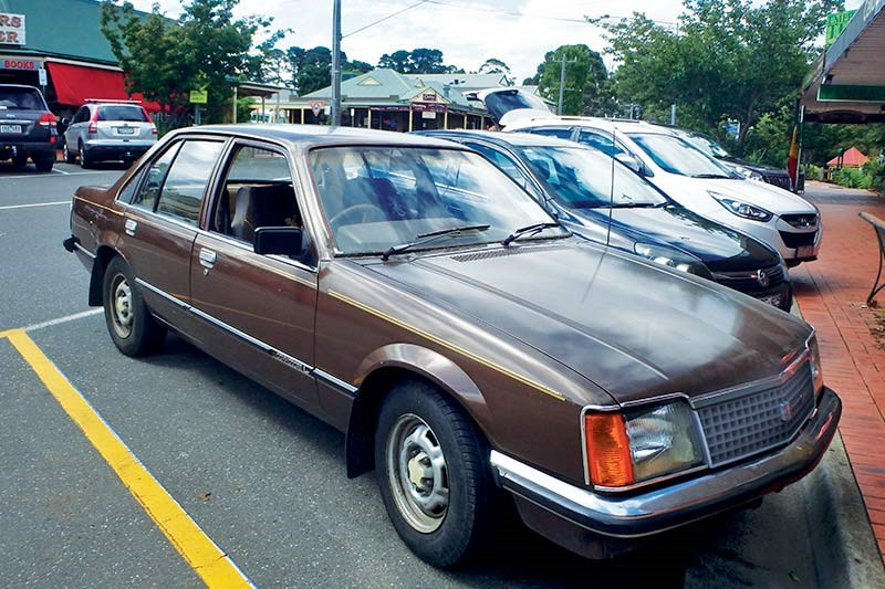 brown holden commodore