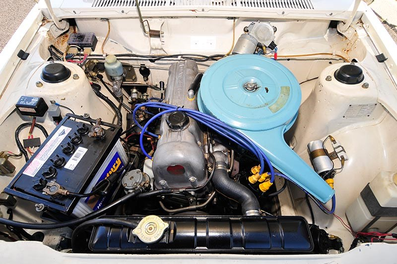 datsun engine bay