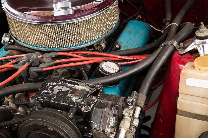 ford xy falcon wagon engine detail