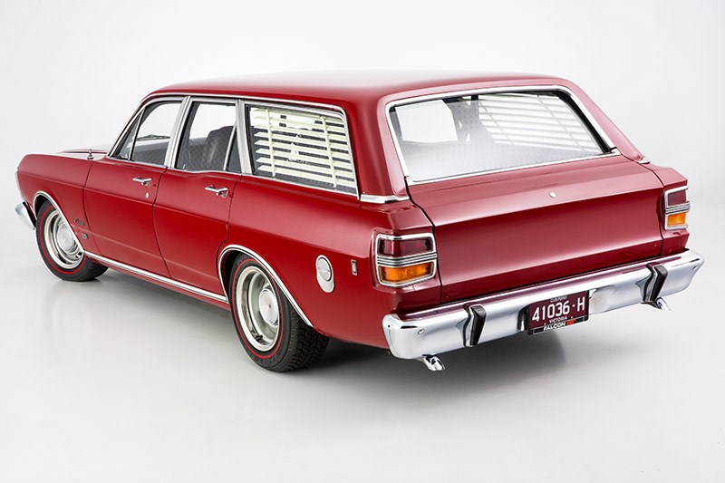 ford xy falcon wagon rear angle