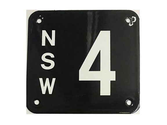 Uber-rare number '4' NSW registration plate
