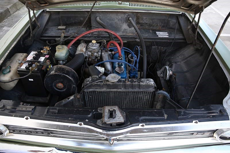 holden hb torana engine bay