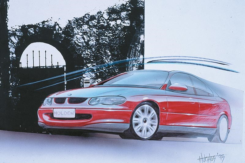 holden vt commodore sketch