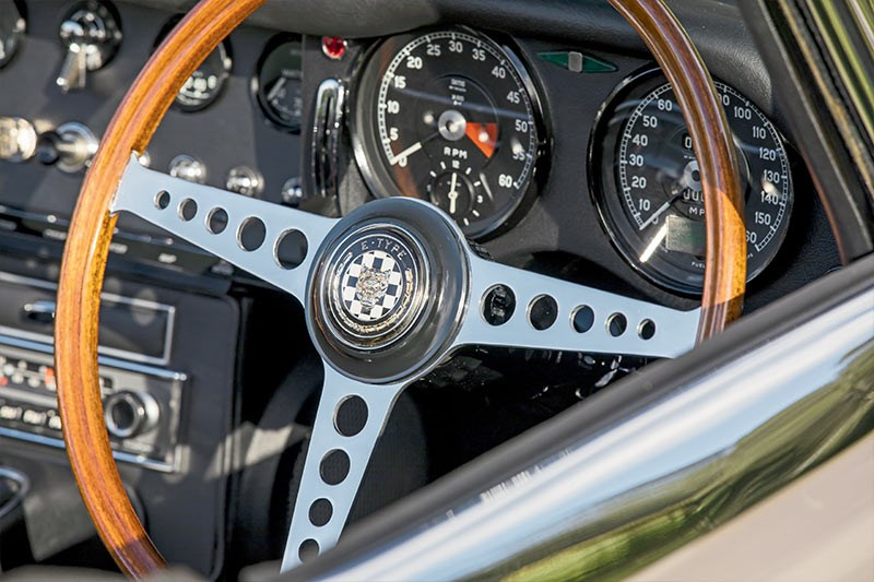 jaguar e type steering wheel