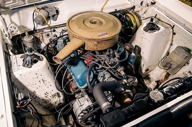ford falcon engine bay