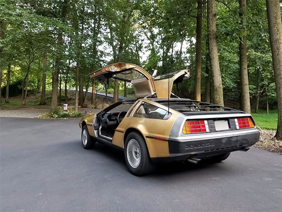 Gold DeLorean