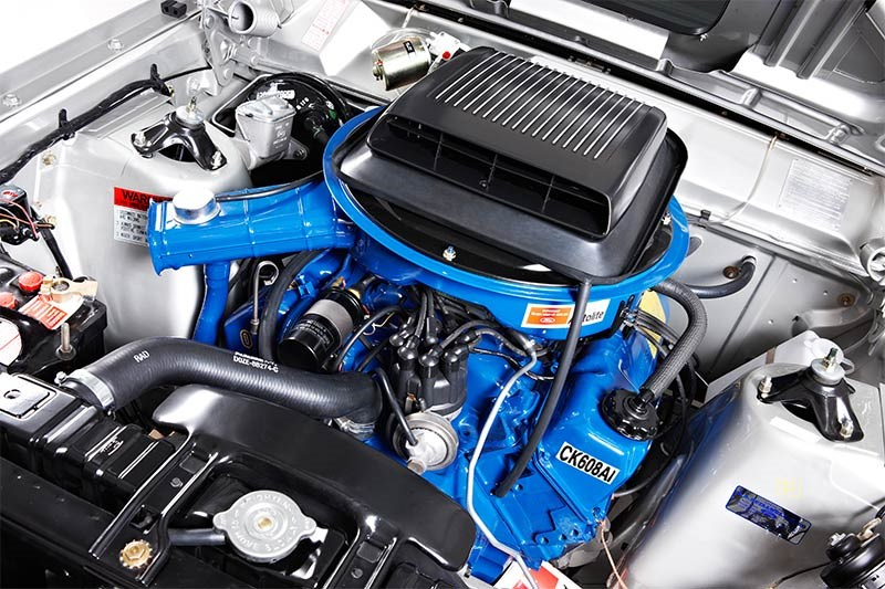 ford falcon xy gt engine bay