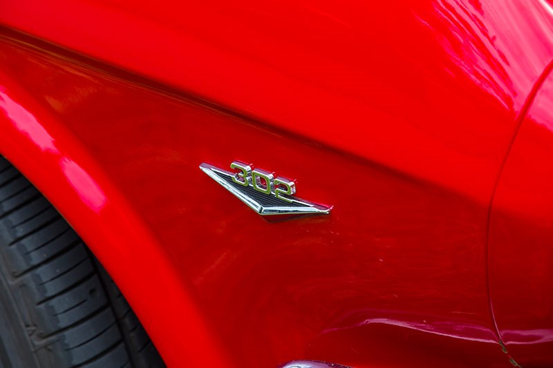 ford mustang 302 badge