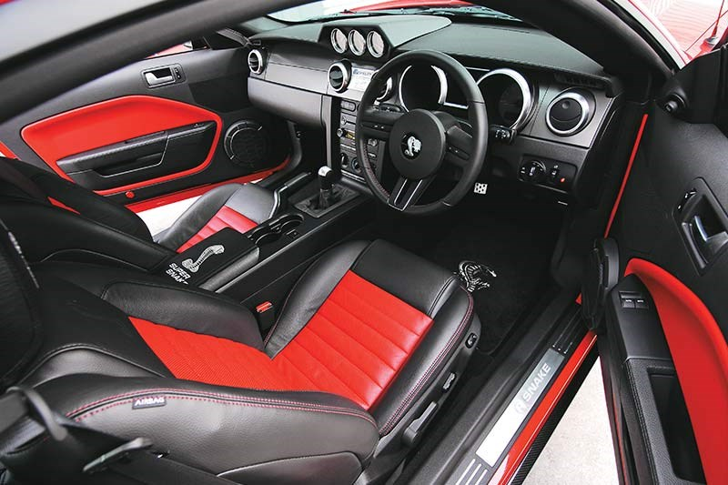 shelby gt500 super snake interior